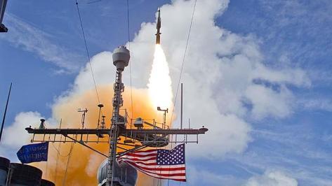 Rudal SM-3 Blok IIA telah tiga kali diuji coba dari Kauai, Hawaii. Satu berhasil, dua lainnya gagal. Kegagalan pertama terjadi, pada Juni 2017. (Raytheon)