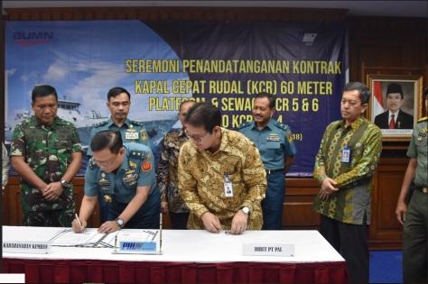 Sekjen Kemhan Tandatangani Kontrak KCR-60M TNI AL 1