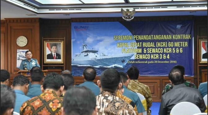 Sekjen Kemhan Tandatangani Kontrak KCR-60M TNI AL