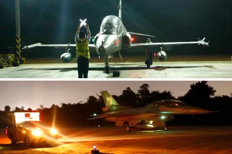 Skadron Udara 12 dan 16 Lanud Rsn Latihan Terbang Malam