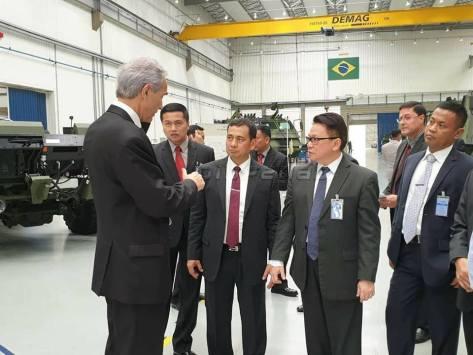 TNI melaksanakan kunjungan ke Pabrik AVIBRAS, Sao Jose Dos Campos, Sao Paulo, Brazil, Selasa (12022019) 2