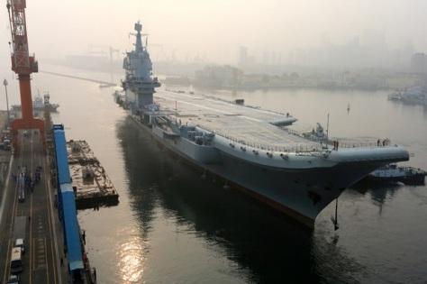 Type 001A, kapal induk pertama buatan dalam negeri China. (REUTERS)