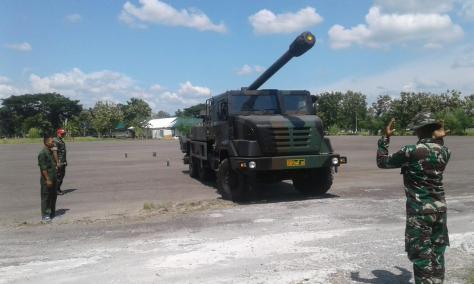 Yonarmed 12 Kostrad Gelar LDS untuk Perawatan Meriam Caesar 155 MM