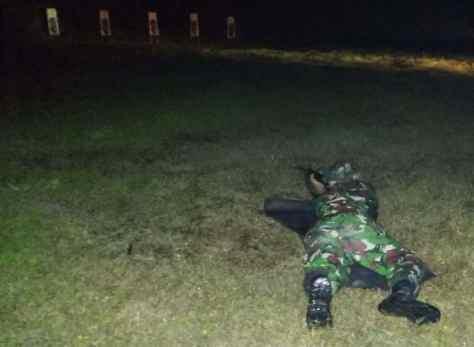 Yonko 463 Paskhas Gelar Latihan Tembak Malam