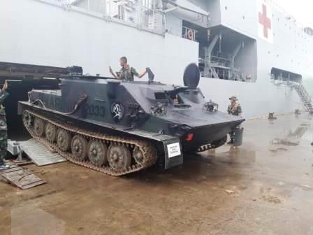 Lima Unit Ranpur PT 76 M dan Tiga Unit BTR 50 PM Perkuat Pasmar 3 Sorong