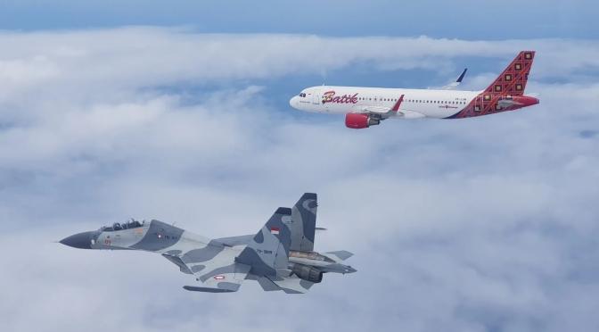 Sukhoi SU-27/ 30 MK Escort dan 'Force Down' Pesawat Asing dalam Sriti Gesit 2019