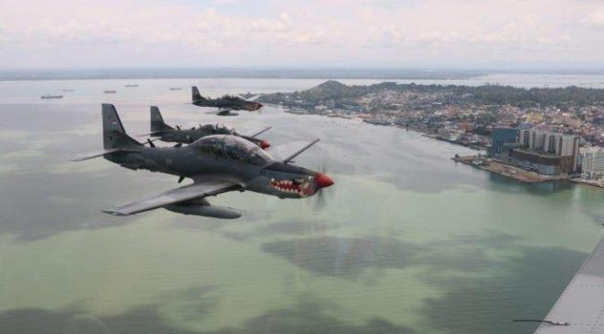 Super Tucano TNI AU Laksanakan Operasi Pengamanan Wilayah Ambalat