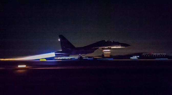 Sukhoi TNI AU Latihan Terbang Malam