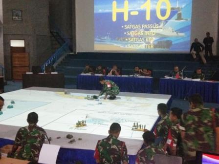 Latihan Operasi Dukungan (Latopsduk) TNI AL tahun 2019 menggelar uji konsep Rencana Operasi RO