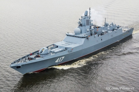 Admiral Gorhkov class mampu membawa 48 rudal kombinasi dari Onyx atau Yakhont, Kalibr dan Zircon (piloterrr)