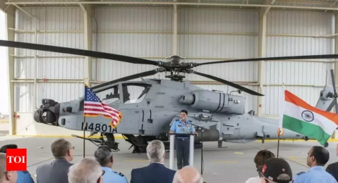 First Of 22 Apache Guardian Helicopters Formally Handed Over To IAF At Boeing Facility In Arizona