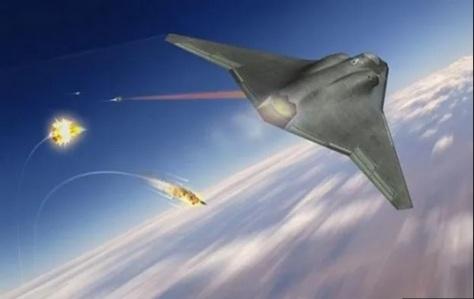 Ilustrasi cara kerja sistem senjata laser ketika menembak jatuh beberapa rudal musuh di udara. (USAF)