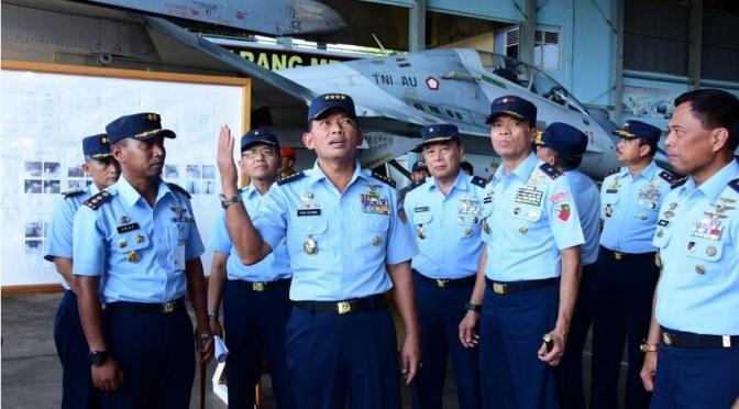 Kasau Tinjau Pembangunan Skadron Udara 33 di Lanud Sultan Hasanuddin