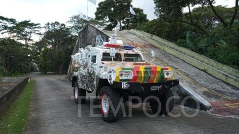 Komodo di PT Pindad Indonesia, Bandung, Senin, 20 Mei 2019. TEMPO Wisnu Andebar
