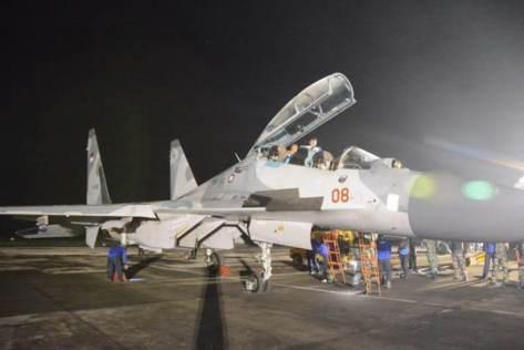 Penerbang tempur Lanud Iswahjudi bersiap terbang malam, Selasa (21052019). (Lanud Iswahjudi)