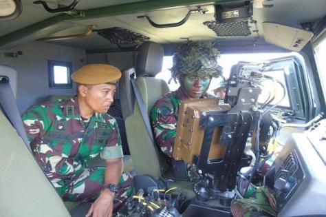 Prajurit Batalyon Arteleri Medan (Yonarmed) 12 menggelar latihan taktis tingkat seksi dengan Caesar 155 m 1