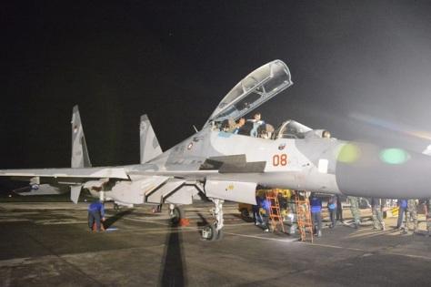 Su-30MK2 masing-masing TS-3008 dan TS-3009 dalam Sikatan Daya 2019 (TNI AU) 1