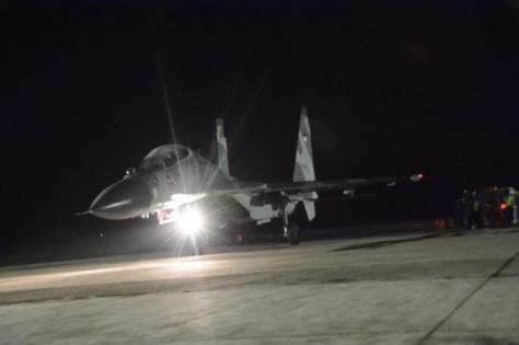 Su-30MK2 masing-masing TS-3008 dan TS-3009 dalam Sikatan Daya 2019 (TNI AU)