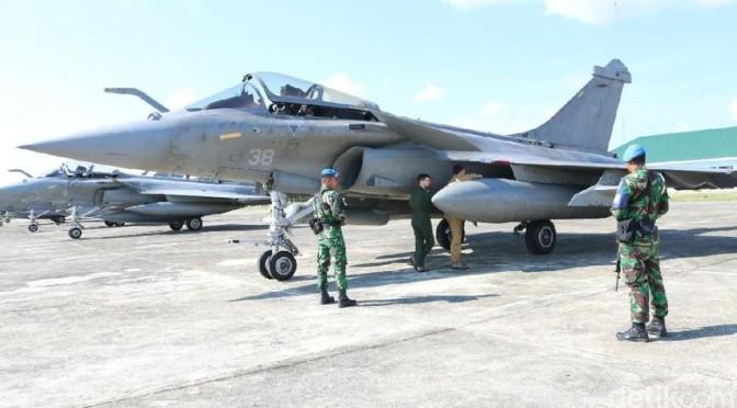 Tujuh Pesawat Tempur Dassault Rafale Prancis Mendarat Darurat di Aceh