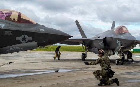 Untuk pertama kalinya AS menggunakan jet siluman F-35A untuk misi tempur (AFP)