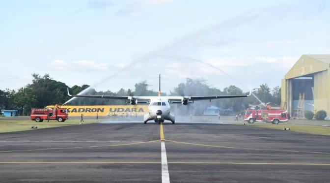 Dua Unit CN-235 Skadron Udara 5 Mengawaki Skadron Udara 27
