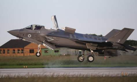 F-35 stealth fighter jets land on British soil The Guardian