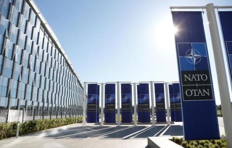 Markas baru NATO di Brussels, Belgia, 7 Mei 2018. (REUTERS)