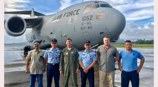 Cope West 2019, Personel USAF Tiba di Manado