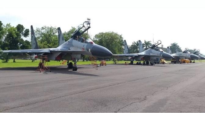 Belasan Pesawat Tempur TNI AU Hadir di Lanud Abd Saleh