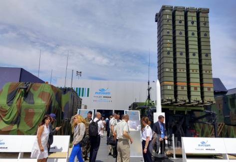 Sistem pertahanan rudal Aster 30 buatan Eropa dipamerkan dalam ajang Paris Air Show 2019