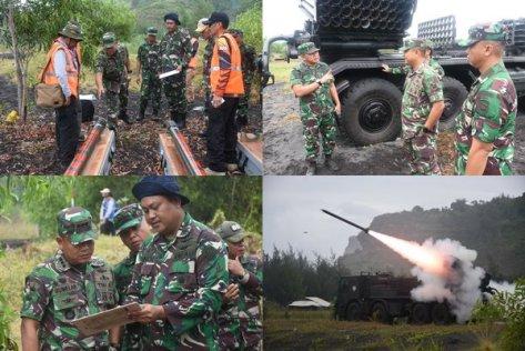 Uji Dinamik Penembakan Munisi Roket R-Han 122B di Pantai Dampar Lumajang 1