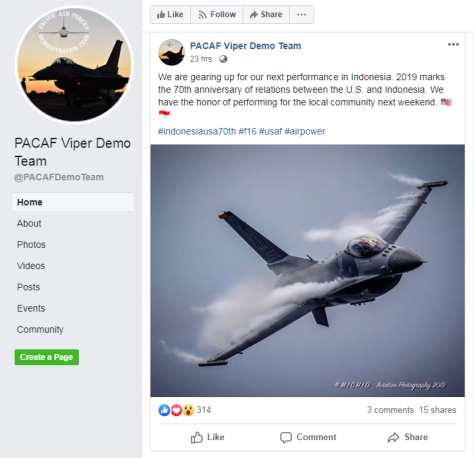 Viper Demo Tour announcement in social media