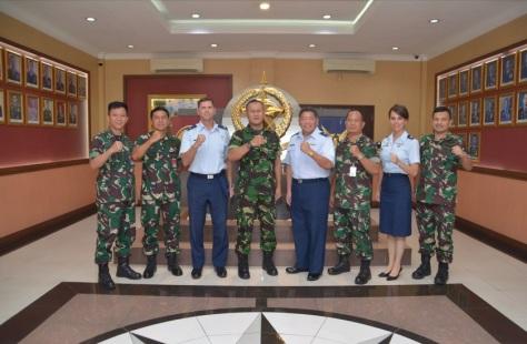 Wing Commander Of Hawaii Air National Guard Kunjungi Kohanudnas