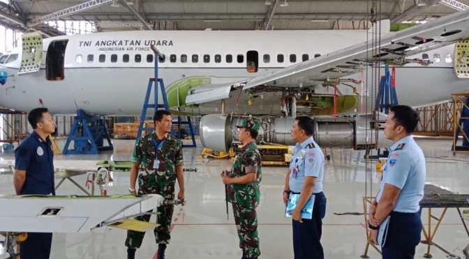 "Cek ""D"" Pesawat Boeing A 7301 TNI AU di Sathar 14"