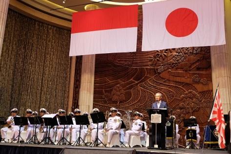 Duta Besar Jepang untuk Indonesia Masafumi Ishii memimpin perayaan Hari Pasukan Bela Diri Jepang. (Kedutaan Besar Jepang)