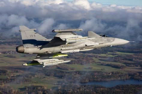 Gripen E with Meteor Missile (Saab)