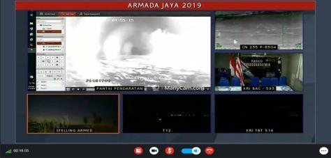 hasil monitoring FLIR diteruskan ke Pusat Komando pengendalian udara TNI AL (Puskodal) secara live 3