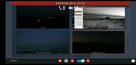 hasil monitoring FLIR diteruskan ke Pusat Komando pengendalian udara TNI AL (Puskodal) secara live 4