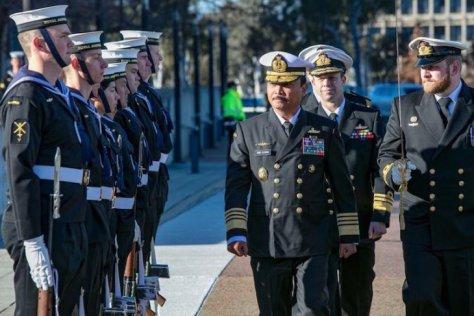 Kasal Laksamana TNI Siwi Sukma Adji, tengah melakukan kunjungan kehormatan ke Kasal Australia, Vice Admiral Michael Joseph Noonan, di Canberra. (19072019)