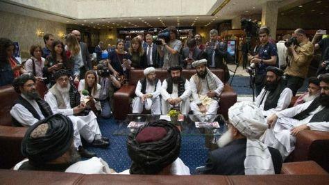 Kementerian Luar Negeri RI membenarkan lsejumlah delegasi kelompok Taliban berkunjung ke Indonesia. (AP Photo)