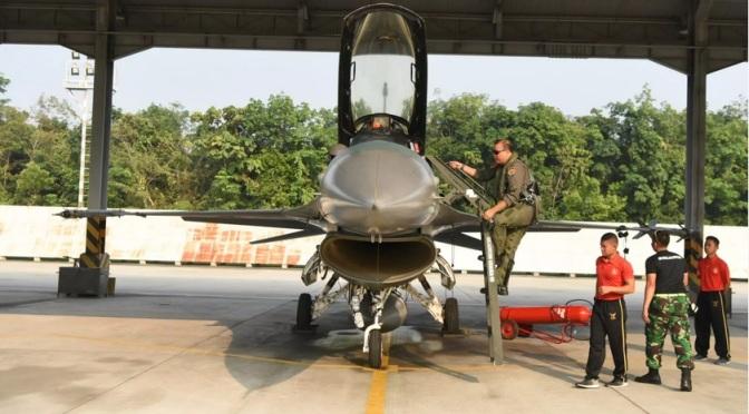 Rydder Flight Skadron Udara 16 Kerahkan Lima F-16 ke Thailand