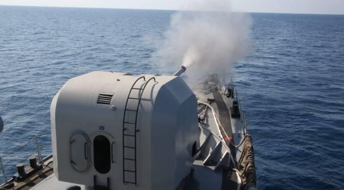 KRI Nala-363 Berhasil Hancurkan Sasaran Tembak