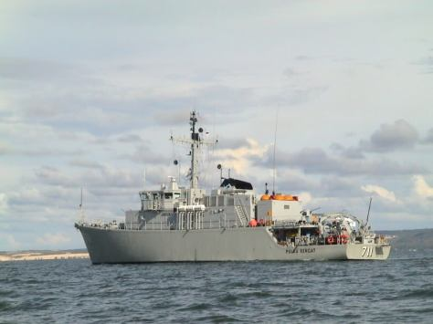 KRI Pulau Rengat 711 Tripartite class (Tribunnews)
