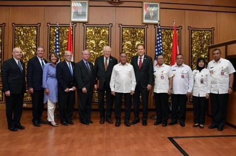 Menhan RI dan Delegasi Kongres AS Bahas Peningkatan Kerjasama Pertahanan E