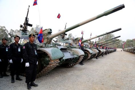 Militer Kamboja. (AFP PHOTO)