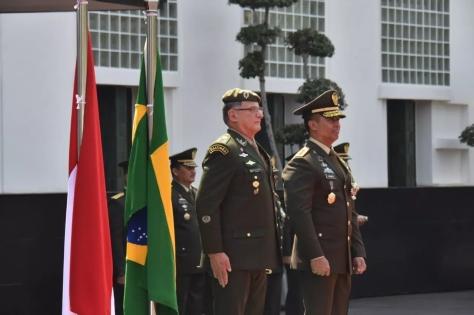 Pada pertemuan Kepala Staf Angkatan Darat (Kasad) Jenderal TNI Andika Perkasa dan Panglima Angkatan Darat Brasil, General Edson Leal Pujol