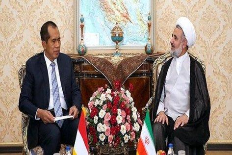 Abdul Kharis Almasyhari, ketua komisi parlemen Indonesia bidang pengawasan pertahanan dan keamanan, bertemu dan mengadakan pembicaraan dengan ketua Komisi Keamanan dan Kebijakan Luar Negeri Parlemen Iran, Mojtaba Zonnour