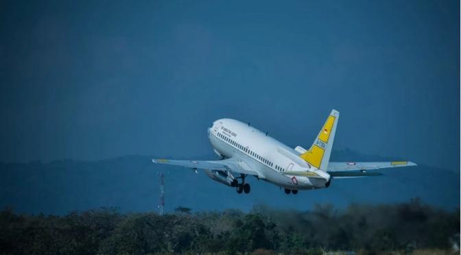 Boeing 737 TNI AU Melakukan Searching atas Tenggelamnya KM Pieces