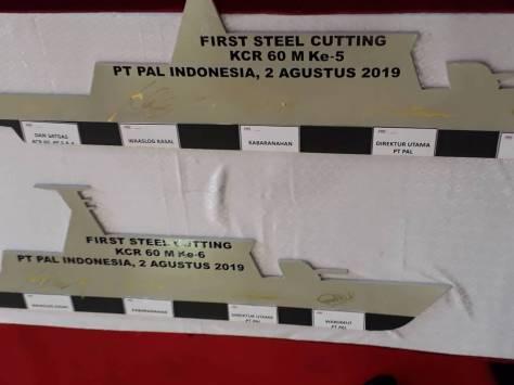 First Steel Cutting Pembangunan Dua Unit KCR 60 Meter (Kevin Nauval)