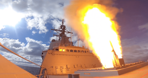 HMAS Hobart Tembakkan SM-2 Standard Missile (CSIS)